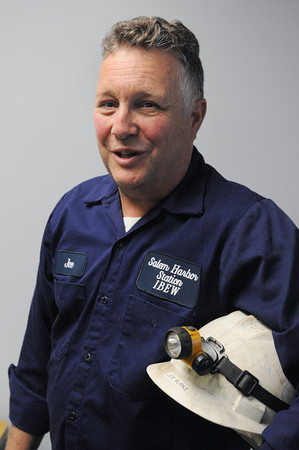 KEN YUSZKUS/Staff photo. Joe Burke worked for many years at the Salem Harbor Station.   5/22/14.