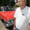KEN YUSZKUS/Staff photo. Ron Kharibian is with his restored 1964 Ford Gallaxie.    5/20/14
