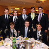 2014 St. John's Prep Honor Scholars Christopher Bazdanes, Matthew Censullo, Matthew Daly, Chase Davis, Andrew DeGuglielmo, Anders Eldracher, Anthony Gaeta, Thomas Johnston, Nicolas Limacher, Daniel Lipovsky, Owen Marsh, Alex McNiff, John Parker, Lucas Prioli, and Conor Sweeney, at the 46th annual Honor Scholars Recognition Dinner held at the DoubleTree in Danvers and sponsored by the North Shore Chamber of Commerce. DAVID LE/Staff photo. 5/13/14.