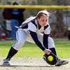 DAVID LE/Staff photo. 4/29/15. Peabody second baseman Ashley Jenkins fields a ground ball.