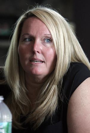 KEN YUSZKUS/Staff photo. Nicole Ouellette talks about her missing mother Marguerite O'Brien.    5/4/15