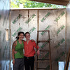 "DAVID LE/Staff photo. Partners Lindsay MacLean, right, and Courtney McLeod, of Salem, are building a ""Little House"" that they will be shipping across the world to Hawaii. McLeod got a job on a cacao farm and the pair will be moving this little house to the farm to live. 5/11/16."