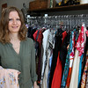 KEN YUSZKUS/Staff photo.     Pam Hulbert is the owner of Plum Consignment in Beverly.    04/28/16