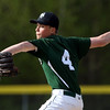DAVID LE/Staff photo. Manchester-Essex starting pitcher Harry Painter keeps his eyes keyed on the strike zone while throwing a pitch against Ipswich on Tuesday. 5/17/16.