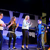"RYAN HUTTON/Staff photo<br /> From left, Briscoe Middle School students Olivia Doherty, Olivia Arenburg, Abby Bettencourt, Adam Harrison and Charlie Barrior rehearse ""Lucy Dollar, Private Eye: The Musical"" on Tuesday afternoon."