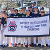 PARKER FISH/ Photo. Members of the 2015 District 15 Little League Championship team gather for a photo at home plate. 4/30/16