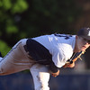 DAVID LE/Staff photo. Danvers senior starting pitcher Andrew Olszak throws a pitch against Peabody on Wednesday evening. 5/18/16.