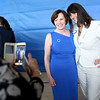 HADLEY GREEN/ Staff photo<br /> Leslie Gould takes a photo with Salem State President Patricia Meservey at her reception. 5/23/17