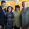 HADLEY GREEN/ Staff photo<br /> From left, Mike Crounse, Cheryl Crounse, Gina Deschamps, and Hank Deschamps attend Salem State's reception for President Patricia Meservey, who is retiring at the end of the school year. 5/23/17