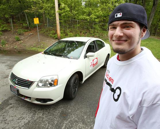 Danvers High School senior Jacob Walker was the winner of a car