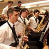 HADLEY GREEN/ Staff photo<br /> Adam Farris, a member of the Covenant Christian Academy jazz band, plays the saxophone at the 49th Annual Honor Scholars Recognition Dinner held at the Doubletree Hotel in Danvers. 5/9/17