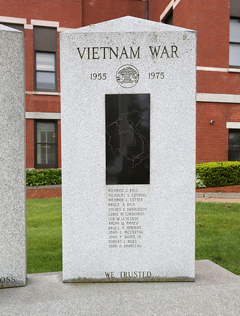 The memorial to Peabody natives killed in action in Vietnam