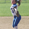 HADLEY GREEN/ Staff photo<br /> Daria Papamechail (13) winds up at the Danvers v. Essex Tech girls softball game at the Great Oak School in Danvers. 5/18/17