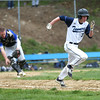 HADLEY GREEN/ Staff photo<br /> Peabody's Dylan DiFillipo (3) runs to first after bunting at the Peabody v. Braintree boys varsity baseball game at Peabody Veterans Memorial High School. 5/13/17