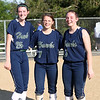 HADLEY GREEN/ Staff photo<br /> Essex Tech players Catie O'Shea (25), Ali Vienneau (7) and Emily Brown (27) pose after the Danvers v. Essex Tech girls softball game at the Great Oak School in Danvers. 5/18/17