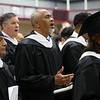 HADLEY GREEN/ Staff photo<br /> Cecil Bethell sings alongside fellow graduates at the Gordon-Conwell Theological Seminary graduation ceremony held at the Bennett Center at Gordon College in Wenham. 5/13/17
