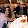 KEN YUSZKUS/Staff photo. From left, Elizabeth Lucas, John Anezis, Larry Boudreault, Petro Spaneas have breakfast at the Peabody Mayor's second Veterans Day Breakfast at City Hall. 11/11/14