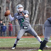 Pingree's Quarterback  Griffin Beal looks to throw in Thanksgiving Day football against Masconomet Thursday, Nov. 26, at Masconomet high School.