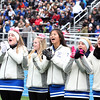 The Danvers cheerleaders yell for their team during the Gloucester vs Danvers annual Thanksgiving Day football game. <br /> Nov. 24, 2016