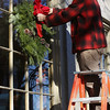 Hanging Christmas wreaths