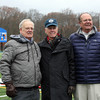Brothers Jim, Dick, and Phil Morse pose for a photo after the dedication and naming of the Morse Athletic Complex during theThanksgiving Day football game played at Dr. Deering Stadium in Danvers. <br /> Nov. 24, 2016