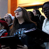 HADLEY GREEN/Staff photo<br /> The Peabody High School Chorale Group sings at the annual Peabody Holiday Stroll outside city hall.<br /> <br /> 11/25/17