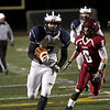 HADLEY GREEN/Staff photo<br /> Swampscott's Isaiah Bascon (7) runs the ball into the end zone for a touchdown at the Gloucester v. Swampscott football game at Gloucester High School.<br /> 11/10/17