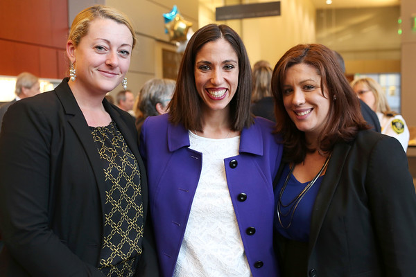 "HADLEY GREEN/Staff photo<br /> From left, Jacqueline Swift, Lindsey Patten, and Heather Murphy of Porcello Law Offices attend the ""This Is Your Court"" event at the Salem Superior Court. 11/08/17"