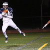 HADLEY GREEN/Staff photo<br /> Swampscot's Jake McIntire (14) catches the ball for a touchdown at the Gloucester v. Swampscott football game at Gloucester High School.<br /> 11/10/17