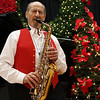 HADLEY GREEN/Staff photo<br /> Robert Landoni plays the saxophone at the Swedish Yule Fair at the Hamilton-Wenham Community House.<br /> <br /> 11/25/17