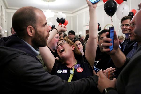 HADLEY GREEN/Staff photo<br /> Salem Mayor Kim Driscoll wins election. 11/07/17