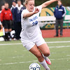 HADLEY GREEN/Staff photo<br /> Danvers' Jessica Pelletier (28) runs up the field at the Medway v. Danvers Division 2 girls soccer state championship game at Fitchburg State University.<br /> <br /> 11/18/17