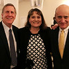 HADLEY GREEN/Staff photo<br /> From left, David Woonton of Century Bank, Diana Carito of Salem Five Bank and Barry Sloane of Century Bank attend the North Shore Chamber dinner and distinguished leaders awards ceremony.<br />  <br /> 11/15/17
