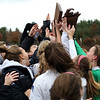 HADLEY GREEN/Staff photo<br /> Danvers players celebrate after winning the Division 2 state soccer championship crown against Medway.<br /> 11/18/17