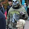 A Salem Halloween-goer on Friday afternoon. DAVID LE/Staff photo. 10/31/14.