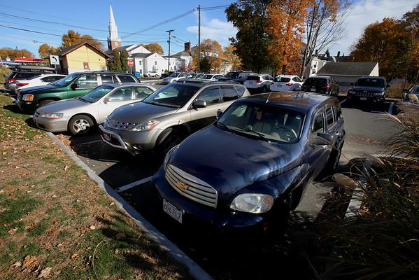 KEN YUSZKUS/Staff photo.   The Hobart Street parking lot in Danvers.    11/02/15.