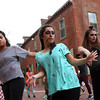 "DAVID LE/Staff photo. Salem State University students participated in dancing to Michael Jackson's ""Thriller"" as part of a flash mob at the Salem Farmer's Market on Thursday afternoon. 10/13/16."