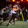 Desi Smith Photo.   Ipswich's Tyler Starr (24) races to the endzone against Manchester for a 6-0 lead in the first quarter Friday night at Hyland Field in Manchester. October 14, 2016.