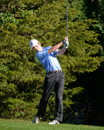 RYAN HUTTON/ Staff photo<br /> St. John's Prep's Griffin Chenard, 18, tees off at the 12th hole of the Middleton Golf Course during practice on Wednesday.