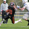 Beverly's Sam Abate in a game Saturday, October 15, at Hurd Stadium. Photo by Nicole Goodhue Boyd