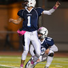 Jared Charney / Photo Peabody's Matt D'Amato watches his extra point sail through against Lynn in Peabody, Friday, October 14, 2016.