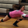 DAVID LE/Staff photo. Masco junior captain Olivia Latam makes a diving effort to save a ball heading out of bounds against Beverly. 10/4/16.