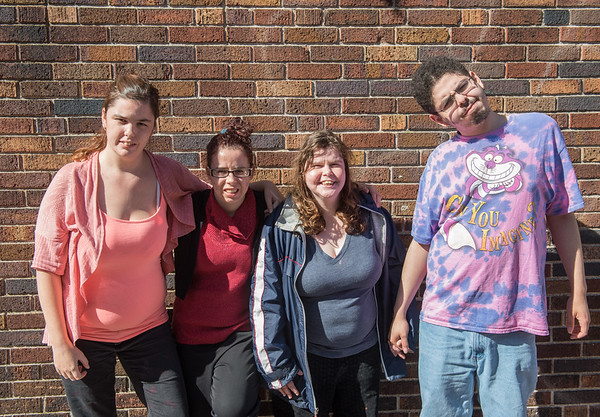 AMANDA SABGA/Staff photo. <br /> <br /> Heather Eckman, Sara Tabbi, Jessica Berman and Mario Rodriguez are all participants of Northeast Arc's STEP program that helps people with disabilities develop skills for entering the workforce. <br /> <br /> 10/17/17