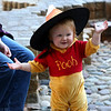 HADLEY GREEN/Staff photo<br /> One-year-old Eleanor Jurschak of Boston puts on a witch hat at the annual Little Monsters Parade in downtown Salem, sponsored by Creative Salem and The Phoenix School. 10/18/17