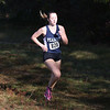 HADLEY GREEN/Staff photo<br /> Peabody's Lillian Brennan came in ninth for girls varsity at the Northeastern Conference Cross Country championships at Bradley Palmer State Park.<br /> <br /> 10/28/17