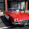 HADLEY GREEN/Staff photo<br /> A 1961 Corvette convertible was on display at the annual classic car show and craft fair along Main Street in Peabody. 10/07/17