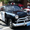 HADLEY GREEN/Staff photo<br /> A 1949 Peabody police patrol car car was on display at the annual classic car show and craft fair along Main Street in Peabody. 10/07/17