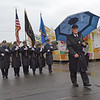 TIM JEAN/Staff photo<br /> Essex County Sheriff Kevin Coppinger leads the department into the fair grounds during the Grand Parade and opening ceremonies of the Topsfield Fair. 9/30/17