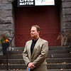 HADLEY GREEN/Staff photo<br /> Reverend Jeff Barz-Snell of First Church in Salem speaks about the proposed Sanctuary for Peace ordinance. <br /> <br /> 10/26/17