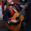 "HADLEY GREEN/Staff photo<br /> ""Captain Snitch"" performs outside The Salem Museum on Halloween.<br /> <br /> 10/31/17"